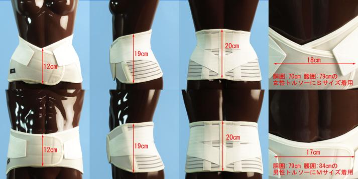 中腰慢性腰痛用腰痛ベルト さらっとコルセット装着図